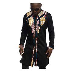 African Mens Shirts, Fashion Kitenge Dashiki Shirt, Men African Clothing-Shirt-LeStyleParfait.Com