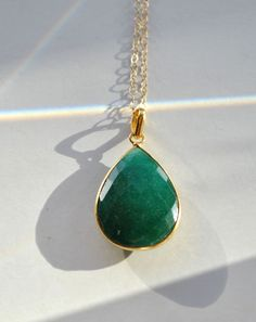 Hey, I found this really awesome Etsy listing at https://www.etsy.com/listing/117098035/emerald-necklace-may-birthstone-emerald
