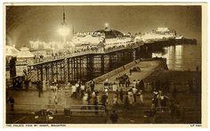 Palace Pier, Brighton postcard c.1959