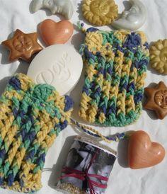 Set of 2 Crochet Soap Saver  Wash Cloth  by KorneliasKreations, $7.50