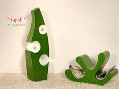 TAPAH Exklusiver Klopapierhalter - Designer WC Papierhalter - Farbe Grün   ART COLLECTION