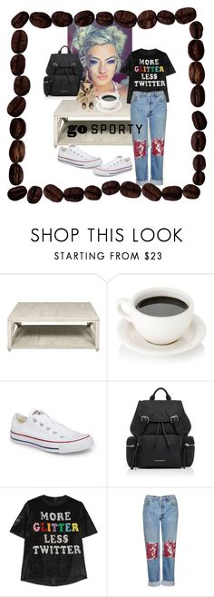 """""""stop being cute ; or come being cute in my bed . 💯"""" by ma-btchin-curves-n-moves ❤ liked on Polyvore featuring Converse, Burberry, Ashish and Topshop"""