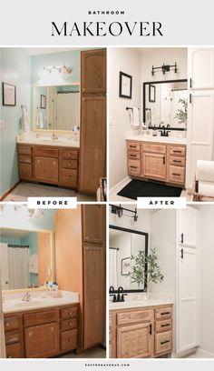 Our Bathroom Makeover - Before and After - Saffron Avenue Bathroom Renos, Bathroom Renovations, Remodel Bathroom, Master Bathroom, White Bathroom, Ikea Bathroom, Home Renovations, Bathroom Small, Bathroom Furniture