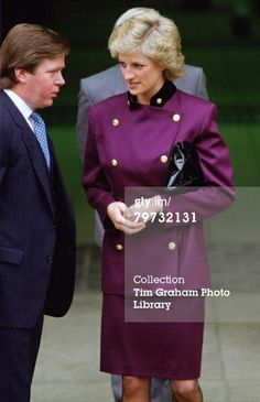 GREAT BRITAIN - APRIL 14: Diana, Princess of Wales with bodyguard Ken Wharfe in St Albans (Photo by Tim Graham/Getty Images)