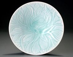 Ice White Low Leaf Bowl