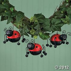 Ladybug Bell Ornaments