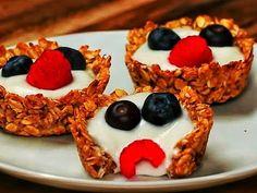 Copas de avena y yogurt - Recetas de entrantes