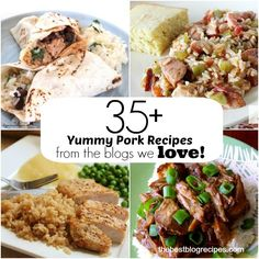 35+ Yummy Pork Recipes from the blogs we LOVE posted on The Best Blog Recipes!    #pork  #recipes  #dinner