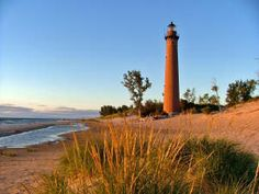 Little Sable Point Lighthouse on Lake Michigan, MI, USA