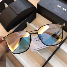 963277cb4bfc9 Cheaper replica Prada SPR54TS Retro Hollow Circular Frame Sunglasses