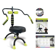AB Doer 360 Transform Your Entire Body with Abdobics Ab Workout and Exercise Machine ( DVD Video and Nutrition Guidebook Included) -- Check this awesome product by going to the link at the image. (This is an affiliate link) No Equipment Ab Workout, Ab Workout Machines, Exercise Machine, Fitness Equipment, Zumba, Squat, Easy Workouts, At Home Workouts, Core Workouts