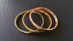 Gold, Silver, & Bronze Bangle Set