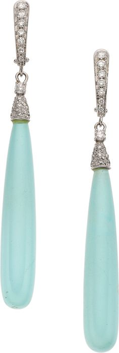 Donna Del Sol Turquoise, Diamond Earrings.