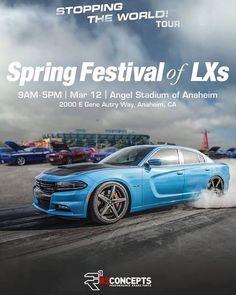 Can't wait to see all the LX family! Spring Festival 2016 #SpringFestivalOfLXs #STOPPINGTHEWORLD #R1concepts #PerformanceBrakeParts #teamR1 #Chrysler #300 #300c #srt #srt8 #mopar #dodge #magnum #charger #challenger #hellcat