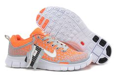 $93.98 discount to $46.99 for New Nike Free 5.0 2013 Orange Grey Women's Running Shoes