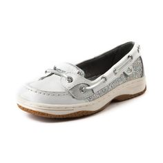 Shop for YouthTween Sperry Top-Sider Angelfish Boat Shoe in White Glitter at Journeys Shoes. Shop today for the hottest brands in mens shoes and womens shoes at Journeys.com.Classic skimmer from Sperry featuring a leather upper with glitter side panel and tongue accents, top stitching on toe, and leather laces.