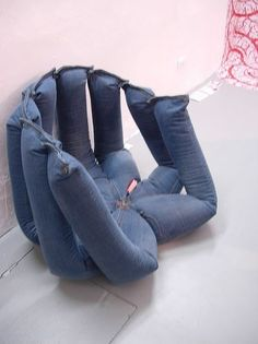 31fantastic ideas how to reuse old jeans ~ Great idea but it's a bit too creepy!