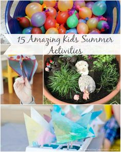 Awesome kids activities perfect for the end of summer before your kiddos head back to school! | Preschool | Elementary | Sensory Play | Imaginative Play | Creative Play | Outdoor Fun |