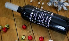 Personalized Etched Wine Bottles: Holiday Gift Guide - Great for Secret Santa, Holiday decorations, and Christmas gifts!