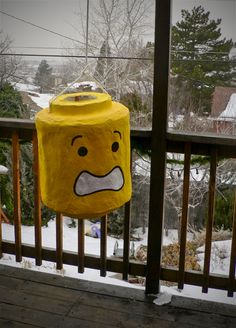 Lego head pinata? Never paper mached anything before...I'll have to think about this one...