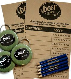 Complete Beer Tasting Kit | Gifts Cards & Stationery | Big Yellow Dog Designs | Scoutmob Shoppe | Product Detail