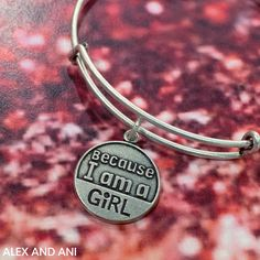 "ALEX AND ANI Because I am a Girl Charm Bangle! This CHARITY BY DESIGN bangle benefits Plan International USA's Because I am a Girl initiative. ""Because I am a girl, I am born to nurture. I am born to love. I am instinctual and perfectly in tune with nature. I am born to achieve. I am capable. I am brave. I am born to inspire others and I am a blessing to the world."""
