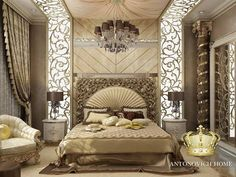 Bedroom design - 20 New Modern Collection of Creative Wall & False Ceiling Stickers Decorating Ideas Decor Units Luxury Bedroom Design, Master Bedroom Interior, Master Bedroom Design, Luxury Interior, Modern Bedroom, Bedroom Decor, Interior Design, Bedroom Ideas, Royal Bedroom