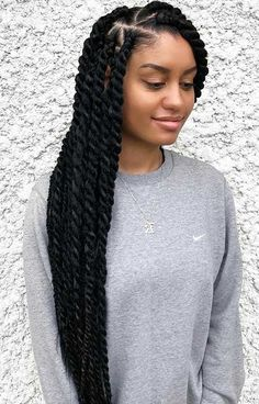 23 Hot Marley Twist Hairstyles to Try Right Now #hairstyles #trendhair Girls Braids, Marley Twist Hairstyles, Crochet Twist Hairstyles, Black Twist Hairstyles, Box Braids Hairstyles, Protective Hairstyles, Summer Hairstyles, Hairstyle Ideas, Twisted Hairstyles