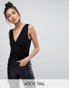 ASOS TALL Top With Wrap Front and Back