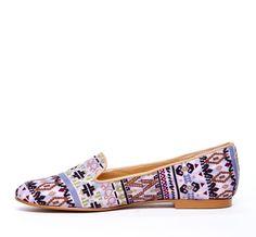 {the Dakota loafer} in Southwestern style pattern
