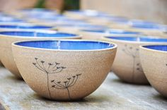 Ceramic blue bowl