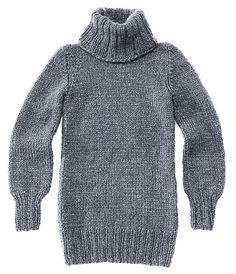 Einen Rollkragenpullover stricken und einen Klassiker gewinnen: Der Pulli wird glatt rechts gestrickt und ist figurnah geschnitten.
