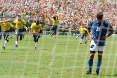 The moment Roberto Baggio handed Brazil the 1994 World Cup. The most talked about penalty miss in the history of football. Baggio is one of the greatest Italian players of all time, but sadly he is remembered for missing the decisive spot kick in the 1994 WC final.