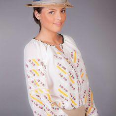 Ie Românească Tradițională Spic de la Flori de ie Traditional, Blouse, Long Sleeve, Sleeves, Tops, Women, Fashion, Moda, Long Dress Patterns
