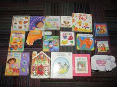 LOT OF 14 SMALL BOARD BOOKS, 2 HARDCOVER & 1 DORA SOUND BOOK, DISNEY & MORE, GUC