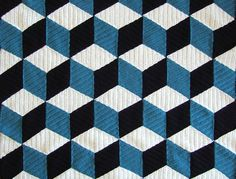 I found several patterns for isometric blankets, but they all used sc in the rhombuses.