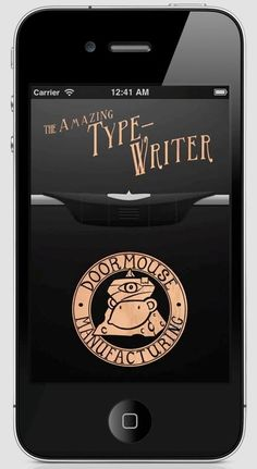 A new fun app, The Amazing Type-Writer. It allows you to make notes that look like they were typed with an old school type-writer...fun!