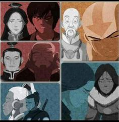 Each character has lost someone... Toph isn't on here, but in a way she lost her family.