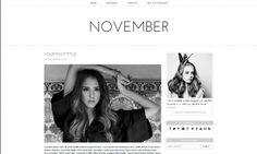 November Blogger Template Mobile Responsive | November is a Minimal, Modern Premade Responsive Blogger/Blogspot Template. Perfect for fashion blog, beauty blog, lifestyle blog etc.