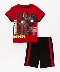 Look at this Iron Man Iron Man Tee & Shorts - Toddler & Boys on #zulily today!
