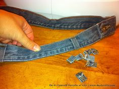 How to make purse / bag strap from jeans waist band