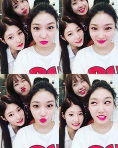 "[PHOTO] 160727 #Chungha's Instagram update with #Chaeyeon & #Yoojung, """" #IOI #정채연 #김청하 #최유정 #아이오아이"