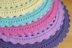 ...Handy Crafter...: New Sara Doily Rugs in Delicious Colors are at Hen...