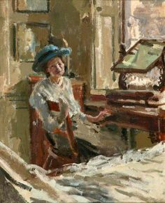 Walter Richard Sickert, The Blue Hat - he pioneered painting from newspaper photos long before pop artists