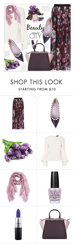 """""""Spring tulips"""" by mari-meri ❤ liked on Polyvore featuring French Connection, Valentino, Exclusive for Intermix, Echo, OPI, MAC Cosmetics, Fendi and Vera Wang"""