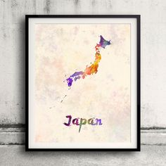 Hey, I found this really awesome Etsy listing at https://www.etsy.com/listing/293203981/japan-map-in-watercolor-fine-art-print