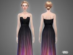 Vika gown by April at TSR • Sims 4 Updates