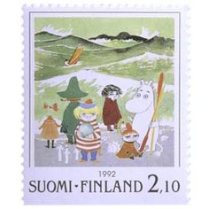 Postimerkki: Muumeja - Tove Jansson, Näkymätön lapsi | Suomen postimerkit Tove Jansson, Finland, Stamps, Seals, Postage Stamps, Stamp