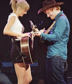 Ed and Taylor became best friends after writing everything has changed. ❤️