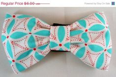 On Sale Dog Flower or Bow Tie  Stitch Petal by LearnedStitchworks, $5.10